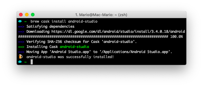 brew cask install android-studio