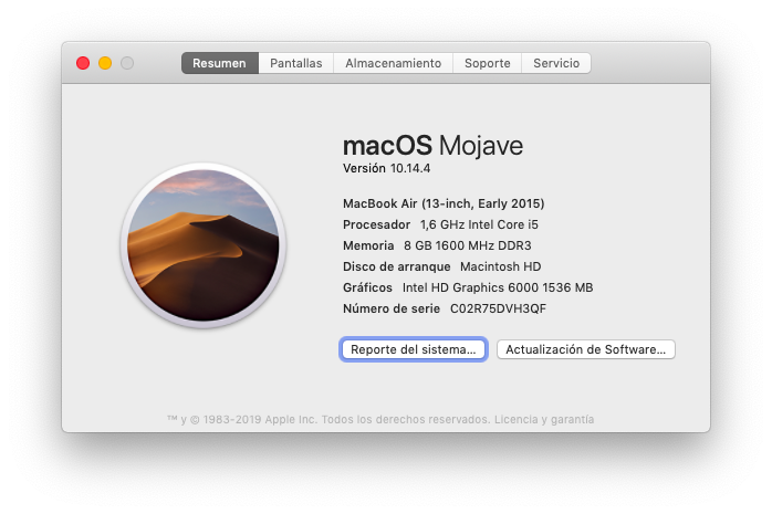 Version de Mac