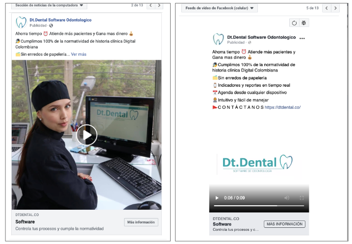 anuncio facebook dt dental